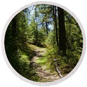 Forest Path In Spokane 2014 Round Beach Towel