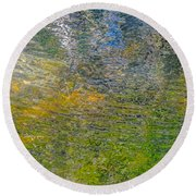 Forest Reflection Round Beach Towel by Roxy Hurtubise