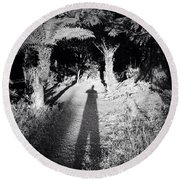 Forest Shadow Round Beach Towel by Les Cunliffe