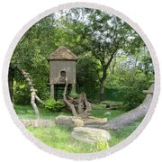 Forest Tale Round Beach Towel