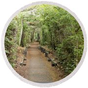 Forest Walk Round Beach Towel
