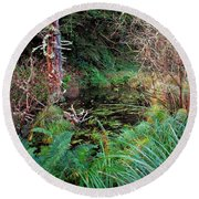 Forest Wetlands II Round Beach Towel