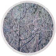 Forests Of Frost Round Beach Towel