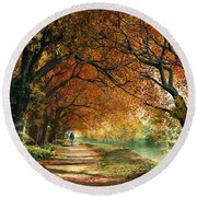 Forever Autumn Round Beach Towel