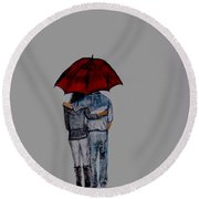 Forever By Your Side Series II Round Beach Towel