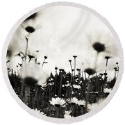 Forever Field  Round Beach Towel