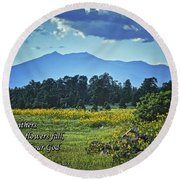 Forever Round Beach Towel