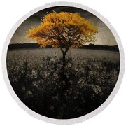 Forever You Round Beach Towel by Brett Pfister