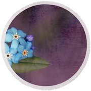 Forget Me Not 02 - S0304bt02b Round Beach Towel