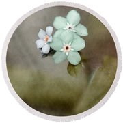 Forget Me Not 03 - S07bt07 Round Beach Towel