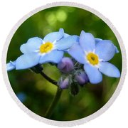 Forget-me-not Round Beach Towel