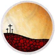 Forgiven - Christian Art By Sharon Cummings Round Beach Towel