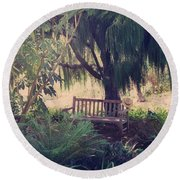 Forgotten.... Round Beach Towel by Laurie Search