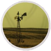 Forlorn Round Beach Towel