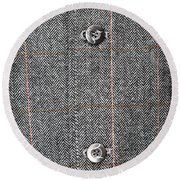 Formal Jacket Round Beach Towel