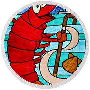 Formal Lobster Round Beach Towel