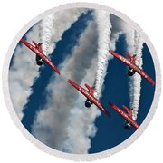 Formation And Smoke Round Beach Towel