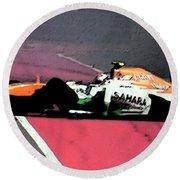 Formula 1 Grand Prix Crash Round Beach Towel