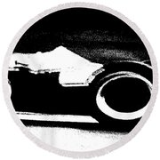 Formula 1 Racer In Action Round Beach Towel