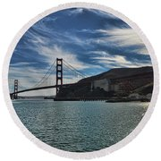 Fort Baker View Round Beach Towel