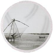 Fort Cochin Round Beach Towel