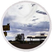 Fort Courage Trading Post Round Beach Towel