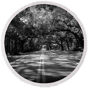 Fort Dade Ave Round Beach Towel