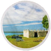 Fort Frederica Round Beach Towel