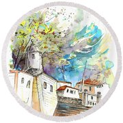 Fort In Valenca Portugal 01 Round Beach Towel