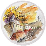 Fort In Valenca Portugal 02 Round Beach Towel