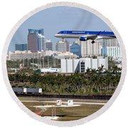 Fort Lauderdale Hollywood International Airport Round Beach Towel