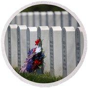 Fort Leavenworth National Cemetery Round Beach Towel