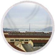 Fort Mason And Golden Gate Bridge Round Beach Towel