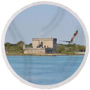Fort Matanzas Round Beach Towel