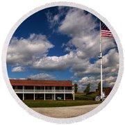 Fort Mchenry Parade Ground Barracks Round Beach Towel