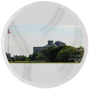 Fort Monroe Round Beach Towel