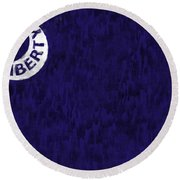 Fort Moultrie Flag Round Beach Towel