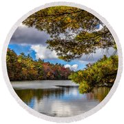 Fort Mountain State Park Lake Trail Round Beach Towel