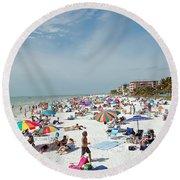 Fort Myers Beach Round Beach Towel
