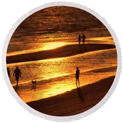 Fort Myers Beach Sunset  Round Beach Towel