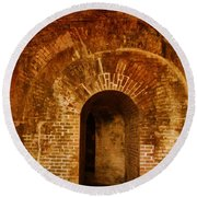 Fort Pickens Round Beach Towel