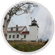 Fort Point Lighthouse 9239 Round Beach Towel