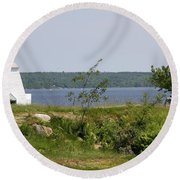 Fort Point State Park - Maine Round Beach Towel