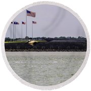 Fort Sumter Round Beach Towel