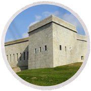 Fort Trumbull Round Beach Towel