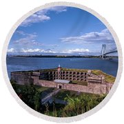 Fort Wadsworth Round Beach Towel