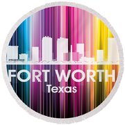 Fort Worth Tx 2 Round Beach Towel