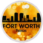 Fort Worth Tx 3 Round Beach Towel