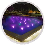 Fort Worth Water Garden Aerated Pool Round Beach Towel