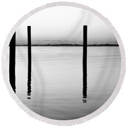 Forth Be Gone  Round Beach Towel